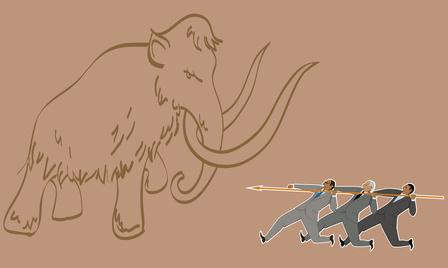 Фамилия Мамонтов восходит к очень редкому каноническому имени древнегреческого происхождения и не имеет никакого отношения к вымершему животному.